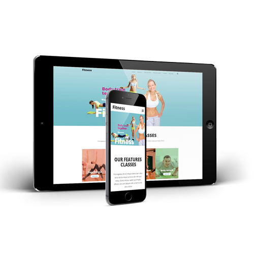 Tablet and phone with fitness website