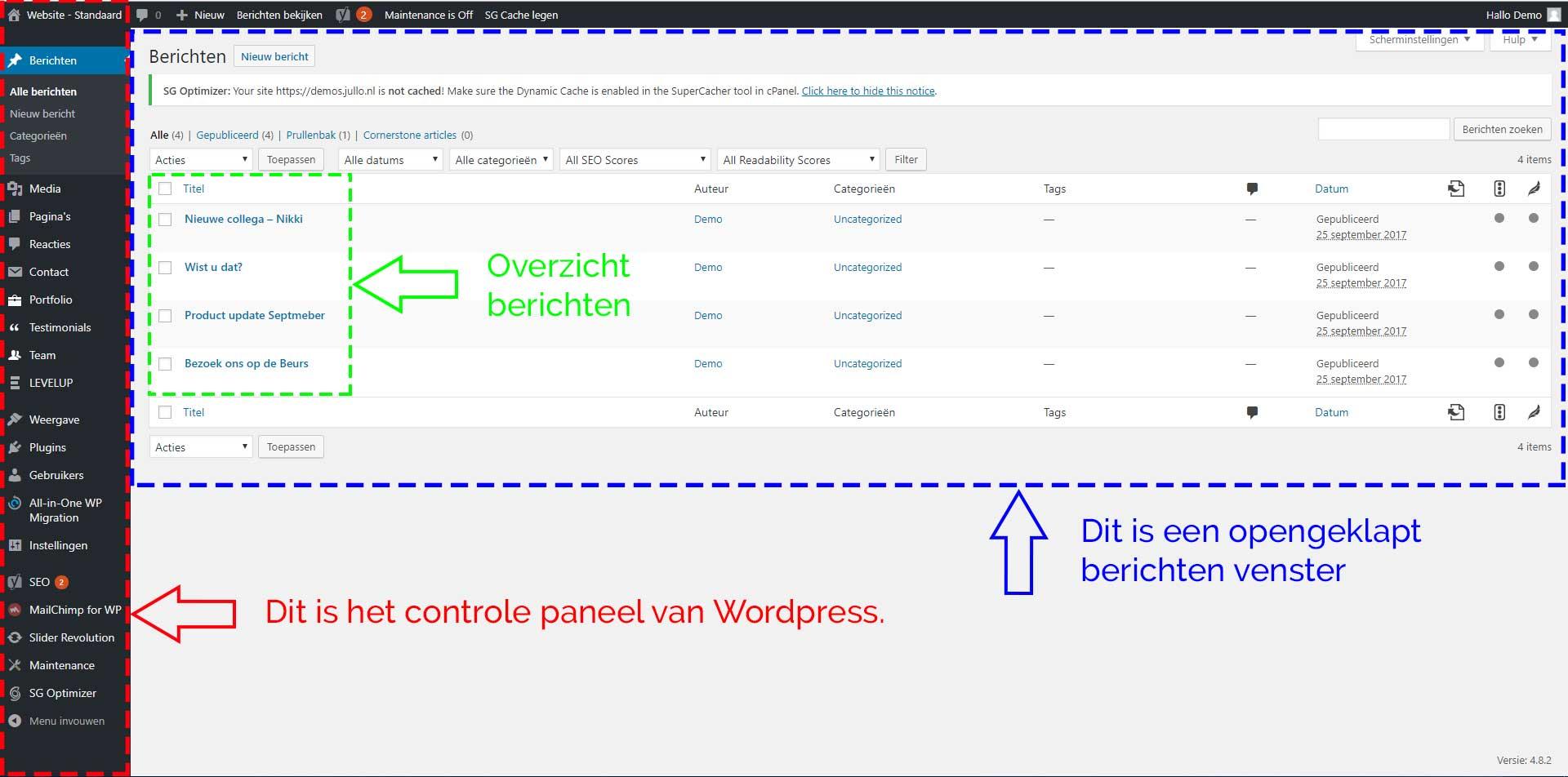 WordPress-dashboard-inleiding