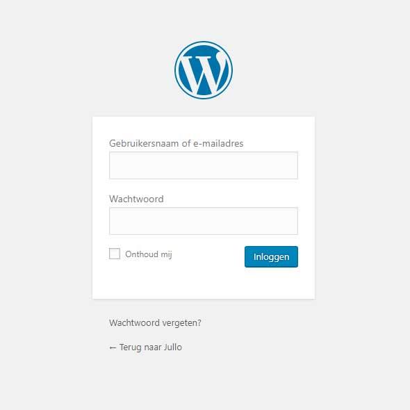 Inloggen op jouw WordPress website