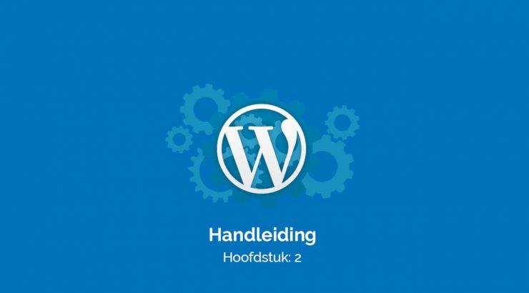 Het WordPress dashboard en opties